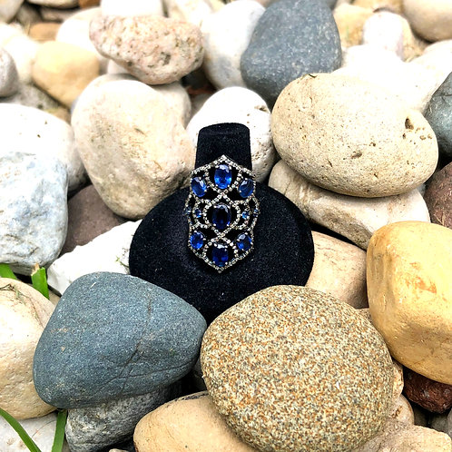 Victorian-style Sapphire and Diamond Ring