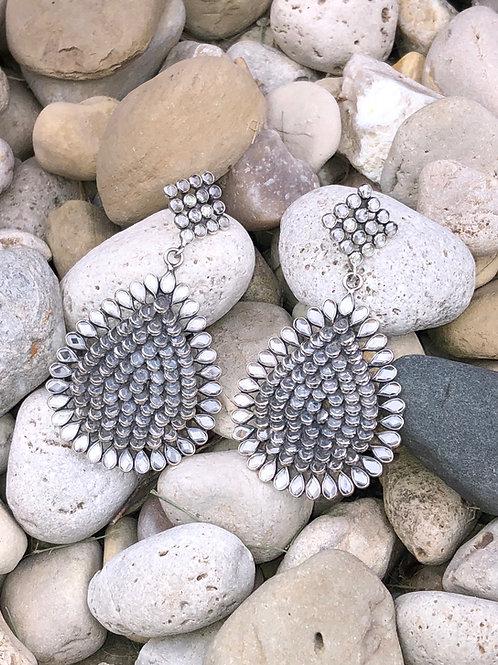 Clear Crystal Earrings – Almond shape