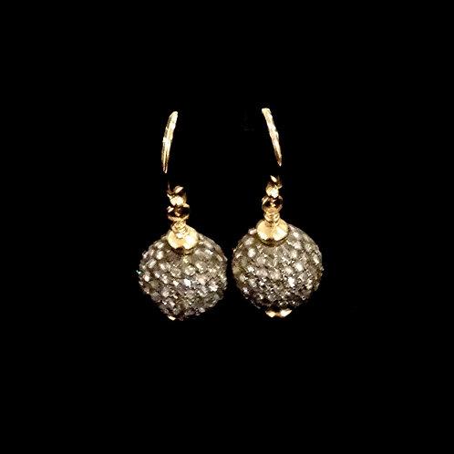 Diamond Orb Earrings