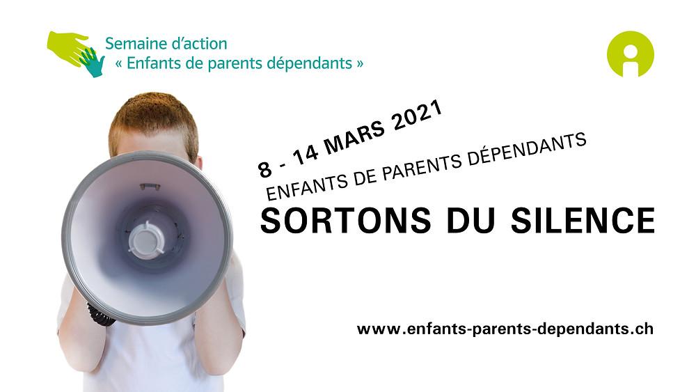 Banner «Settimana d'azione per i figli di genitori con dipendenze»