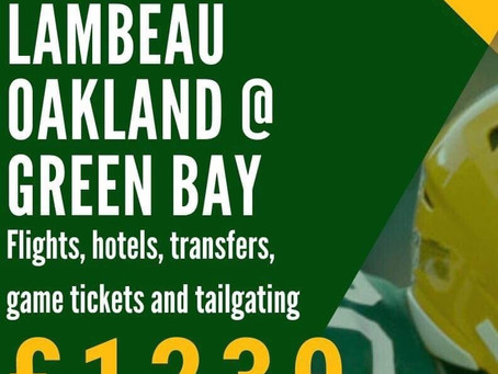 UK Packers Lambeau Tour 2019 Pricing and Details