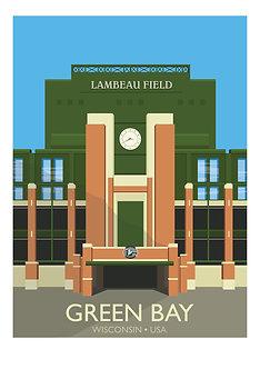 Art Deco style Lambeau poster by designer G. Westley