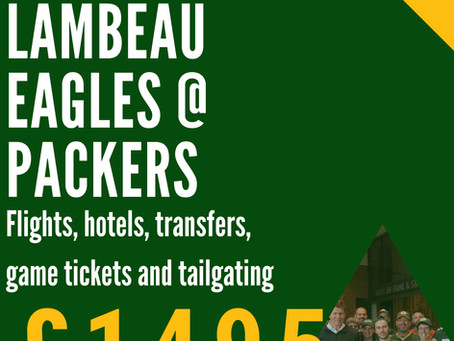 UK Packers Lambeau Tour 2020 Pricing and Details