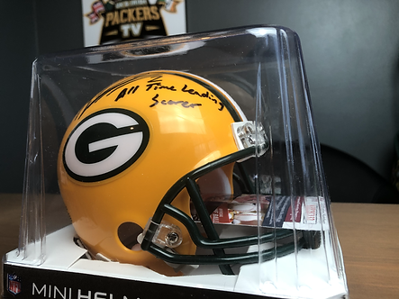 Signed Mason Crosby Mini Helmet with JSA