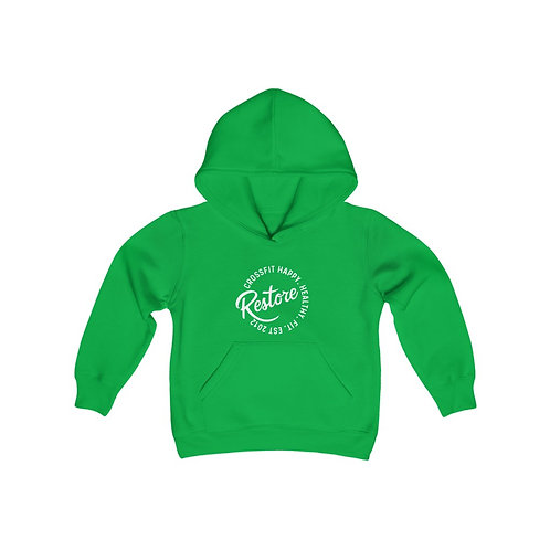 Restore Circle - Kids Heavy Blend Hooded Sweatshirt