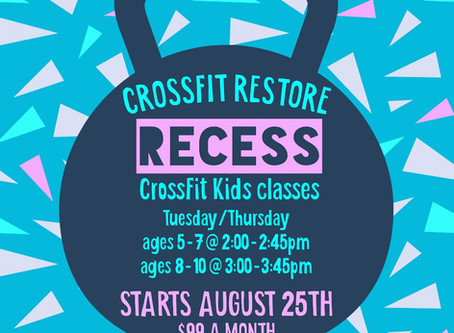 Recess is back!