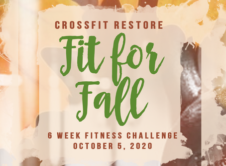 Fit for Fall starts tomorrow!