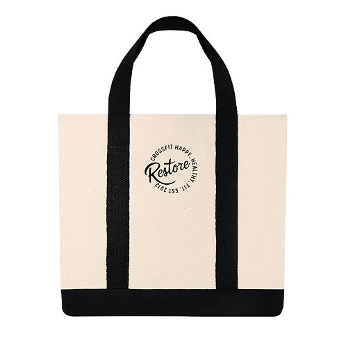 Embroidered Restore - Shopping Tote