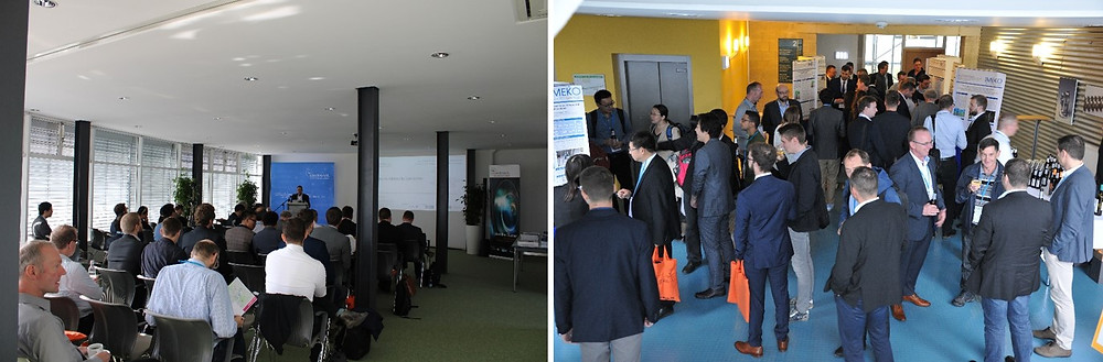Figure 2: Presentation and poster area during the Joint TC1 - TC2 International Symposium on Photonics and Education in Measurement Science 2019