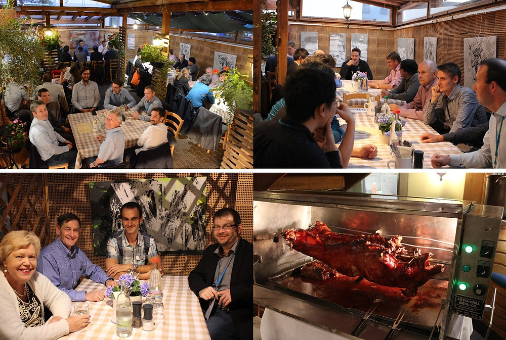 "Figure 5: Conference participants enjoying the ""Thuringian Barbecue"""