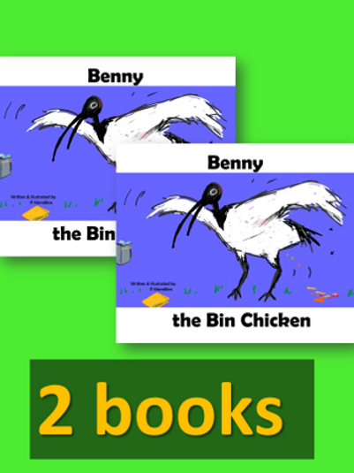 2 x Benny the Bin Chicken - book