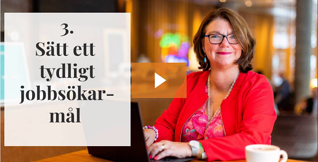Jobbsökningsmål med Charlotte Hågård