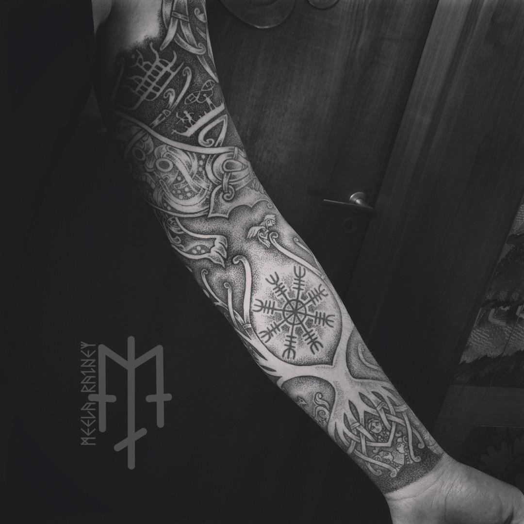 yggdrasil fenrir norns tattoo