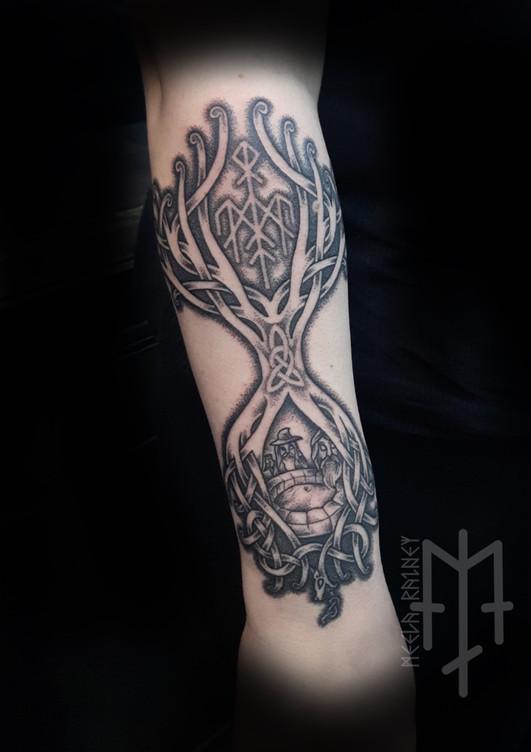 yggdrasil odin mimirs well tattoo wardruna