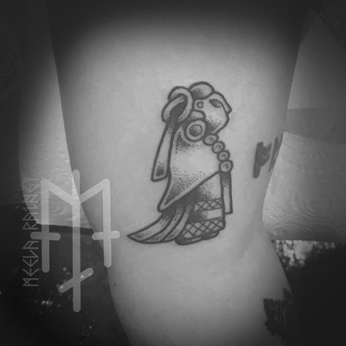 female viking tattoo