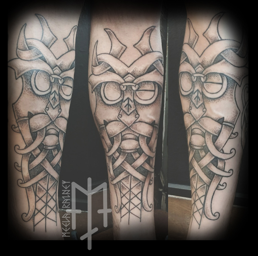 odins mask tattoo