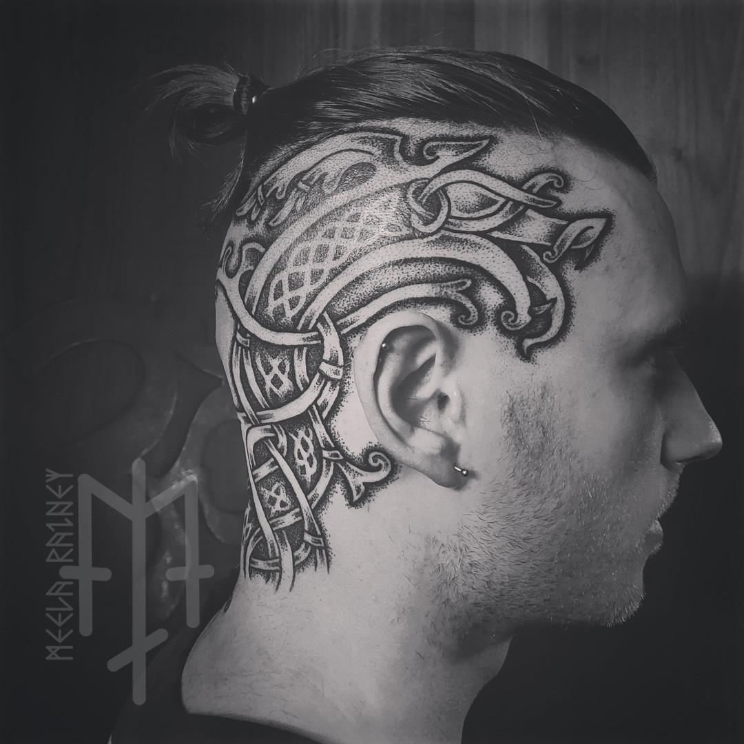 viking serpent head tattoo