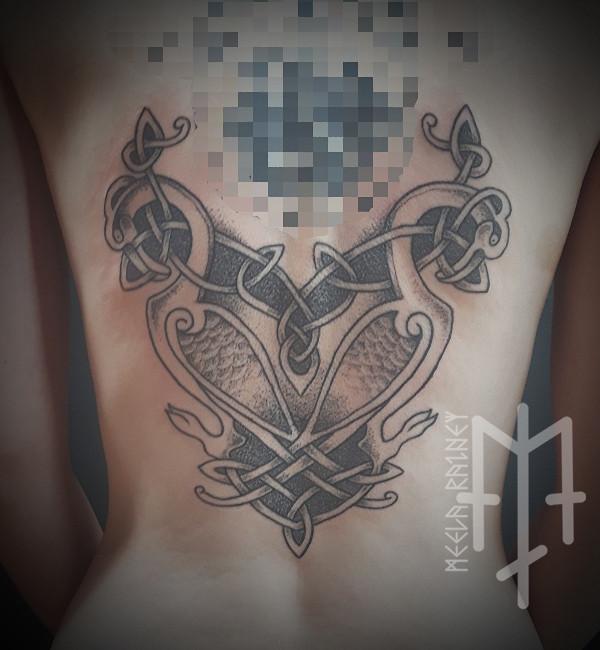 celtic birds tattoo