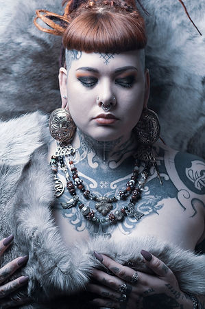 meela rainey viking woman tattoos