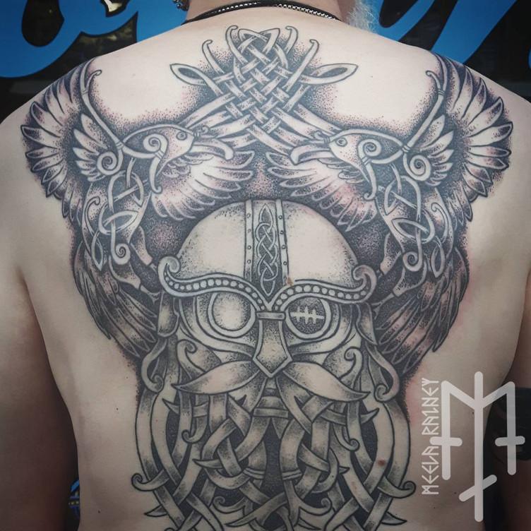odin ravens tattoo
