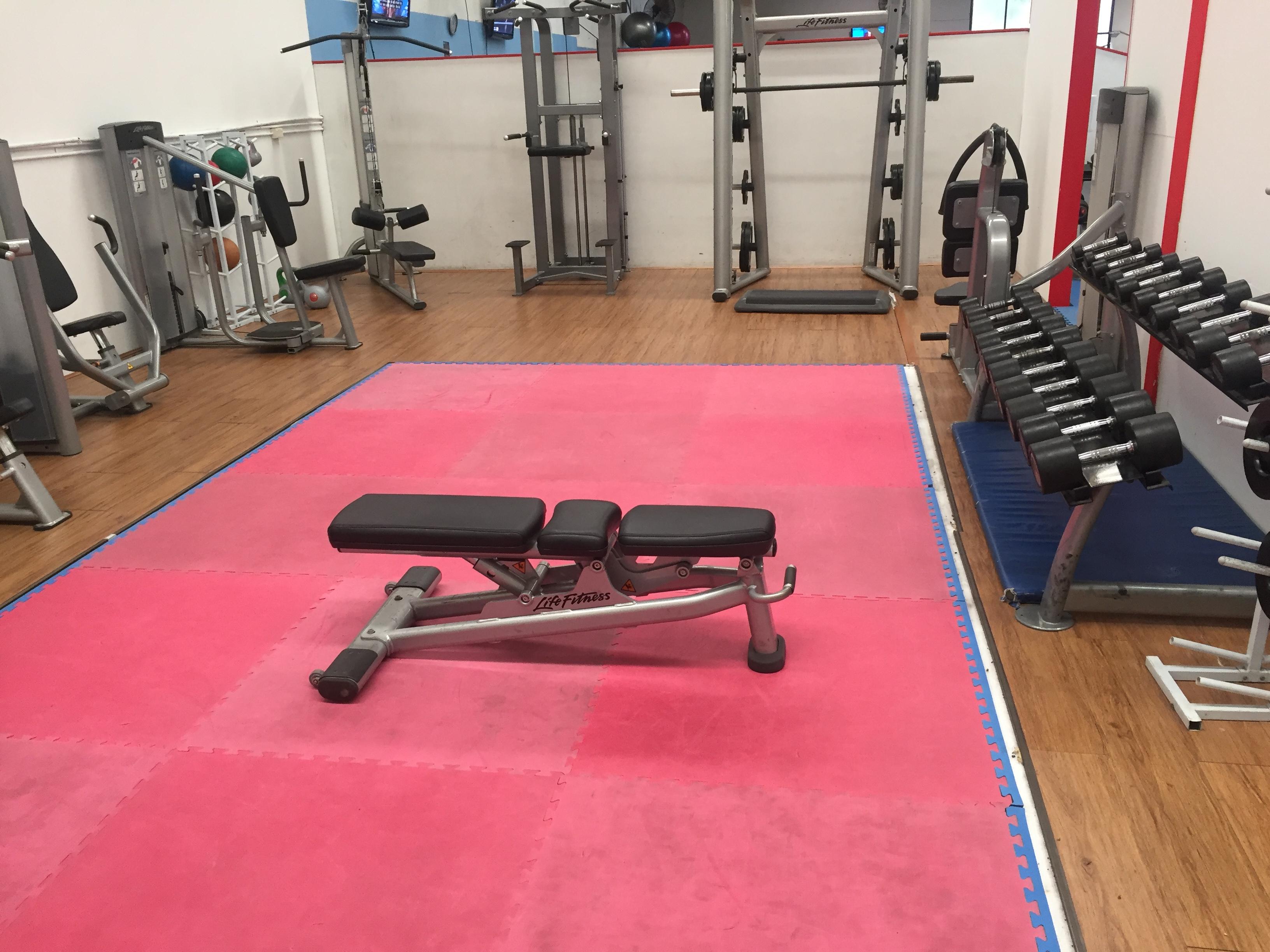 women weights area gym