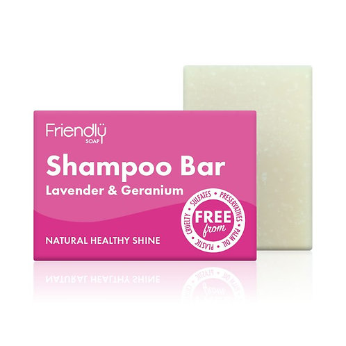 Friendly Soap - Shampoo Bar Lavender and Geranium