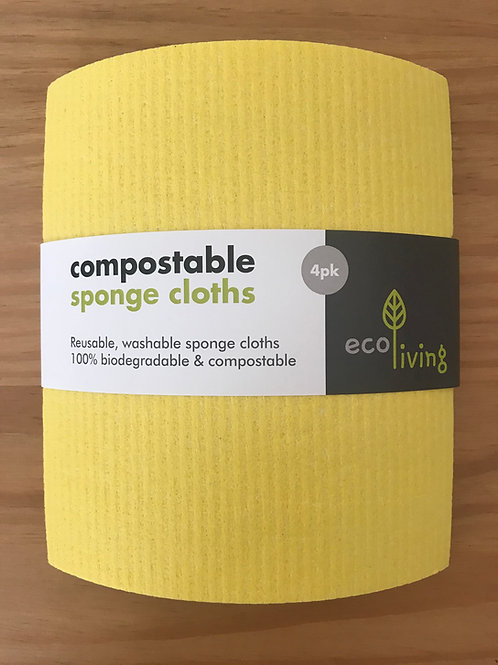 Compostable UK Sponge Cleaning Cloths (4 Pack)