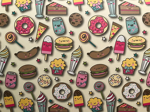 Sweet Eats wrapping paper and tag