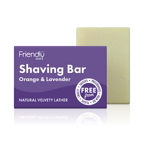 Friendly Soap - Shaving Bar (Orange and Lavender)
