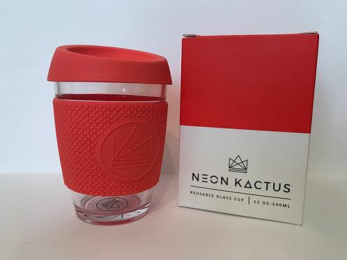 Neon Kactus - Reusable Glass Coffee Cup