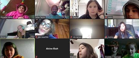 Screenshot of zoom poetry club meeting