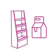 folding carton merchandising display counter display promotional material sticker label hangtag ชั้นวางสินค้า ชั้นวางของ สติกเกอร์