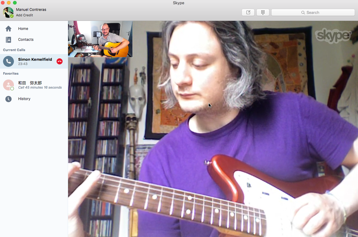Simon Skype guitar lesson