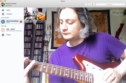 Simon Skype guitar lesson