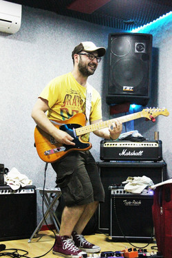 Playing guitar is fun!