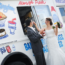 Ice Cream Truck Wedding Photos