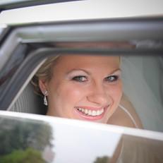 Kitchener Bride in Limo