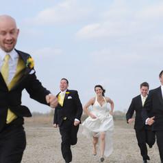Bride Racing Groomsmen