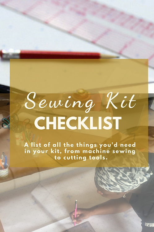 Sewing Kit Checklist