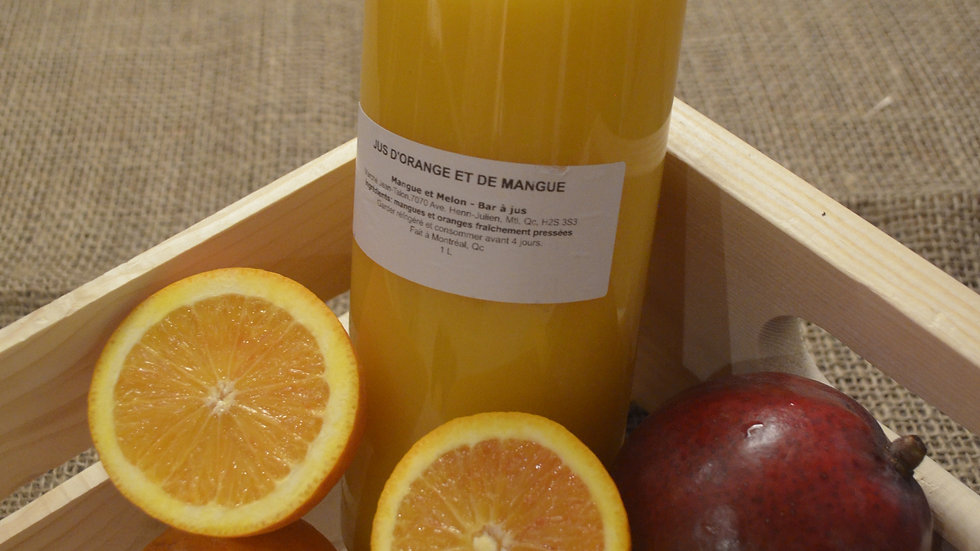 Jus d'orange et de mangue