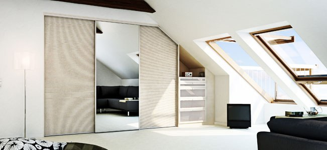 sloping ceiling fittsliding wardrobe