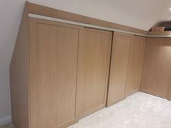 Slidng wardrobe sloping ceiling