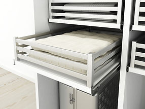 fitted sliding wardrobe pull out drawer