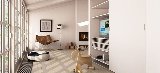 living room storage idea