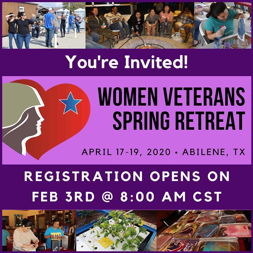Women Veterans Spring Retreat