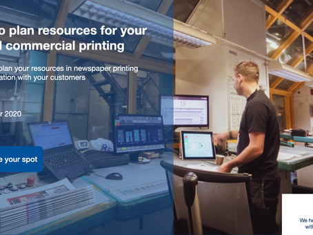 Webinar, 8th of Dec: Production planning for your newspaper and commercial printing