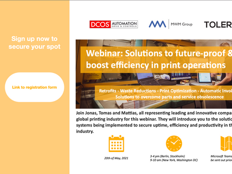 Webinar, 20th of May: Solutions to future-proof & boost efficiency in print operations