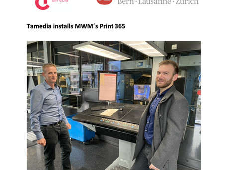 Tamedia installs MWM´s Print 365