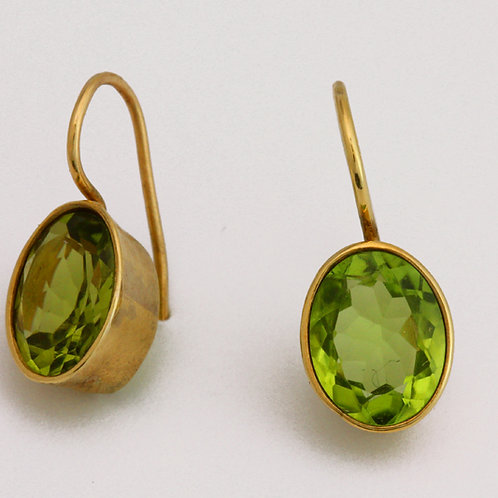 Ohrhänger Gold Peridot
