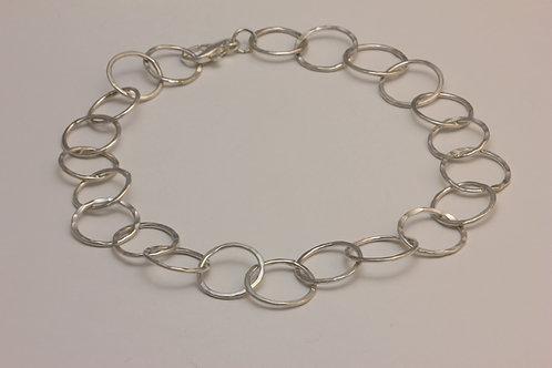 Gehämmerte Gliederkette aus Silber